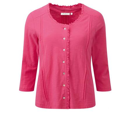 Adini Solid Slub Jade Cardigan - Pink