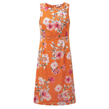 Adini Giselle Print Giselle Dress - Orange