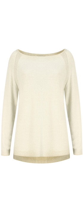 Sandwich Clothing Distressed Dyed Cotton Jumper  Faded Sand