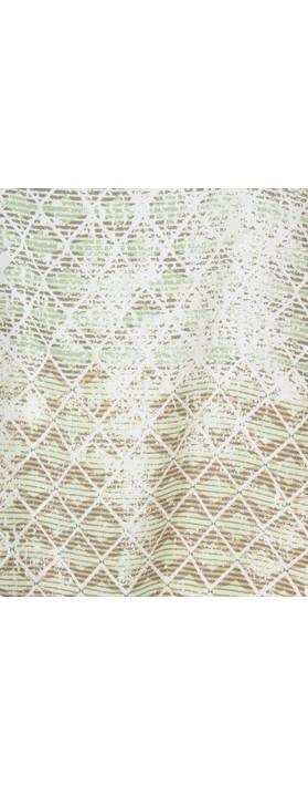 Sandwich Clothing Diamond Check Longline Tunic Washed Jade
