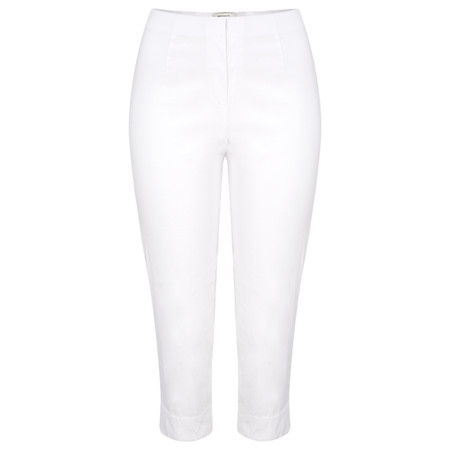 Sandwich Clothing Stretch Cropped Casual Trouser - White
