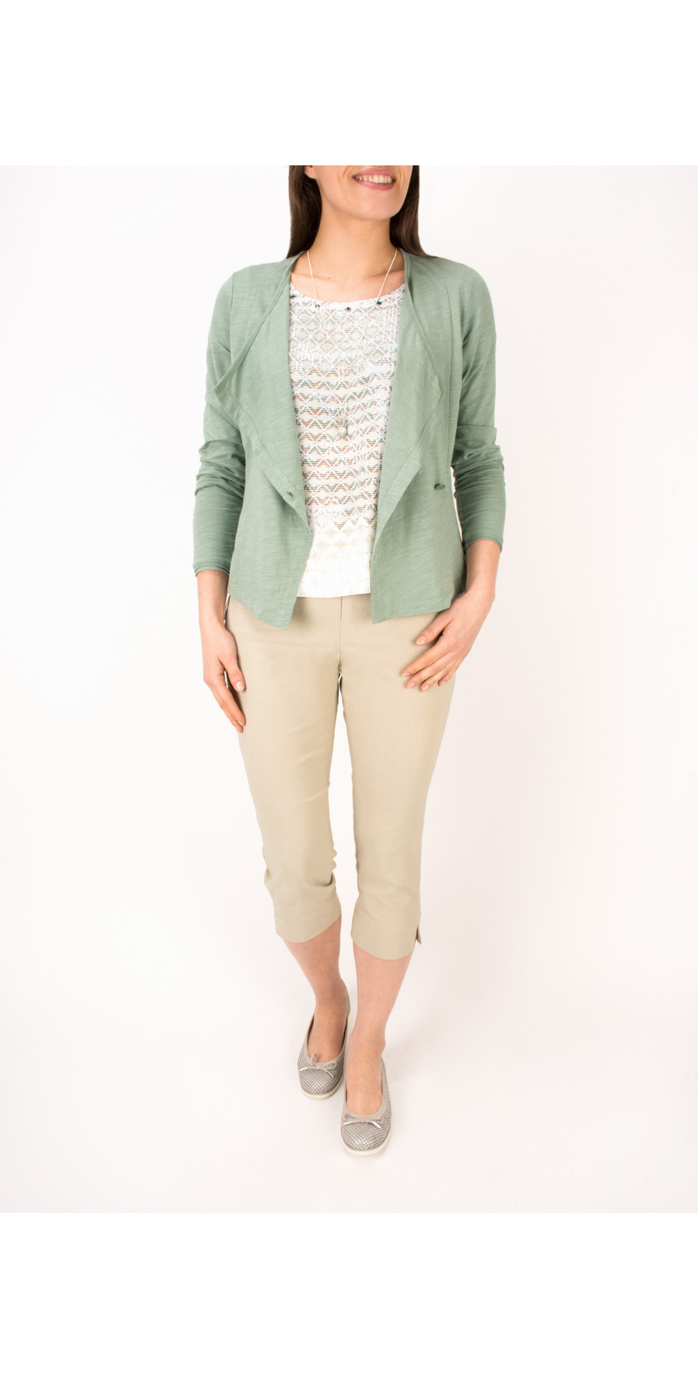 Stretch Cropped Casual Trouser main image