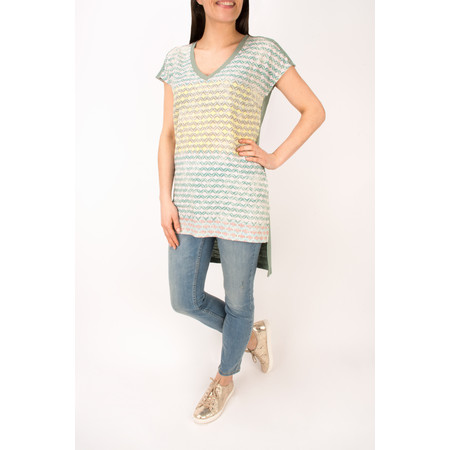 Sandwich Clothing Diamond Check Longline Tunic - Blue