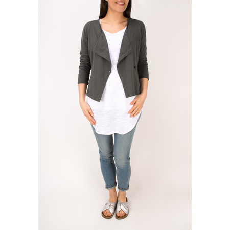 Sandwich Clothing Cotton Slub Jersey Cardigan - Grey