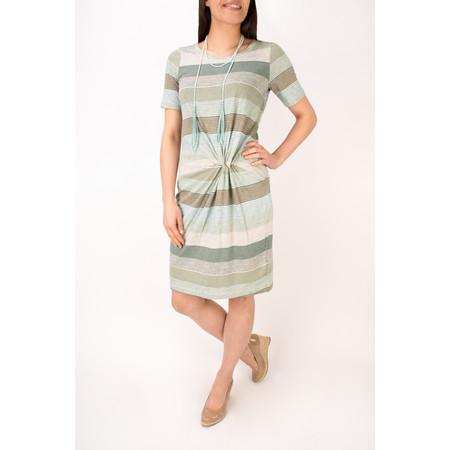 Sandwich Clothing Striped Waist Detail Jersey Dress - Green