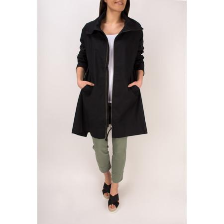 Masai Clothing Tanna Lightweight Oversize Coat - Black