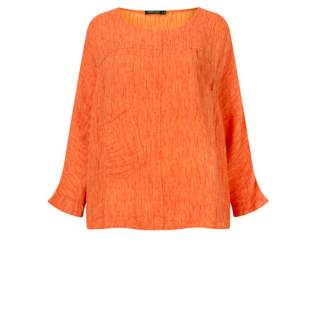 Grizas Silk Easy-fit Top with Pockets - Orange