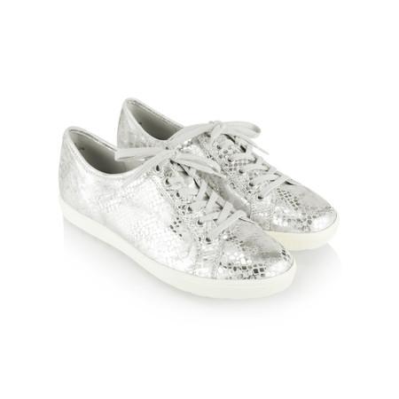 Caprice Footwear Metallic Leather Trainer Shoe - Metallic
