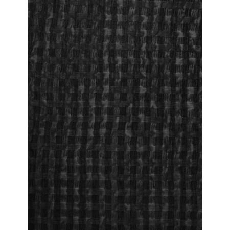 Grizas Silk and Cotton Check Scarf - Black