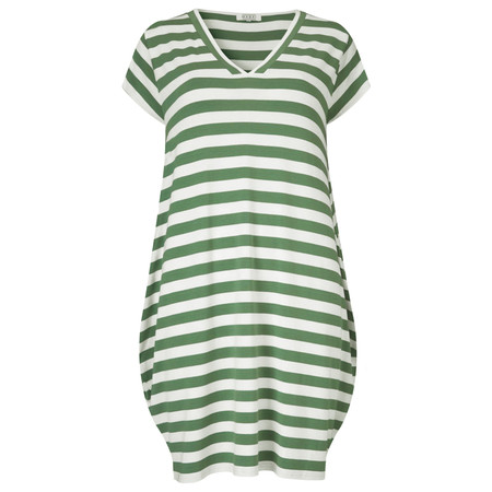 Masai Clothing Gerlis Stripe Tunic Dress - Green