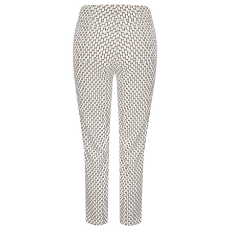 Robell Trousers Bella 09 Graphic Print - Beige