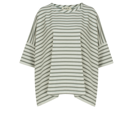 Mama B Beth Stripe Top - Green