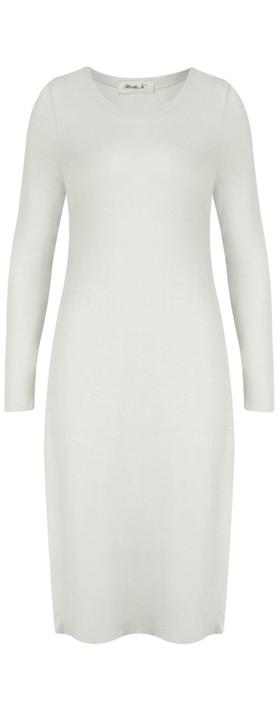 Mama B Inca Slub Linen Tunic Dress Elicriso-stone grey