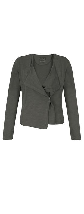 Sandwich Clothing Cotton Slub Jersey Cardigan Grey Magnet