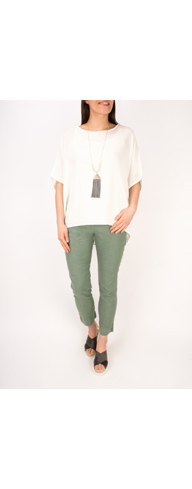 Mama B Oversized Ninfa Shirt Panna-off white