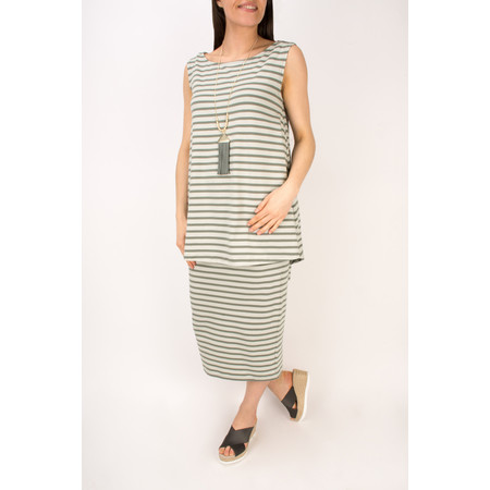 Mama B Lilla Stripe Skirt - Green