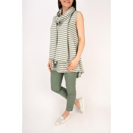 Mama B Stripe Sciarpa Scarf - Green