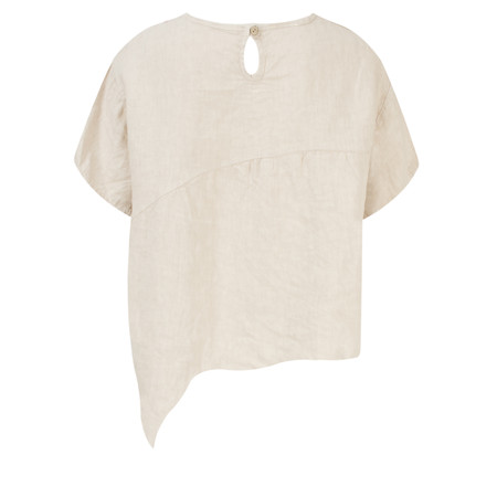 TOC  Bobbie Linen Asymmetric Top - Grey