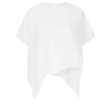 TOC  Bobbie Linen Asymmetric Top - White
