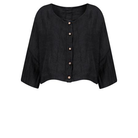 TOC  Birtie Linen Button Front Jacket - Blue