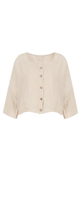 TOC  Birtie Linen Button Front Jacket Stone