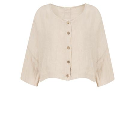 TOC  Birtie Linen Button Front Jacket - Grey