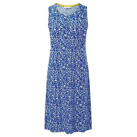 Adini South Sea Print Port Dress - Blue