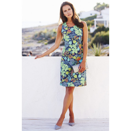 Adini Cozumel Print Maya Dress - Blue