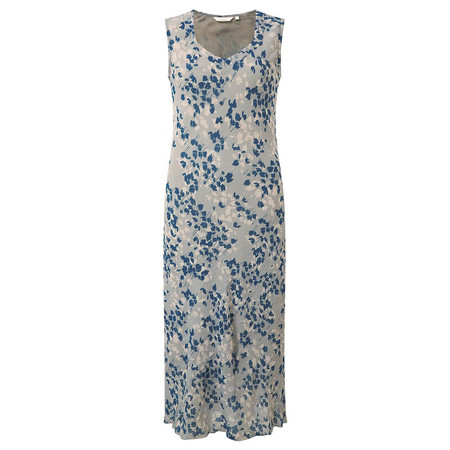 Adini Orchid Print Orchid Dress - Blue