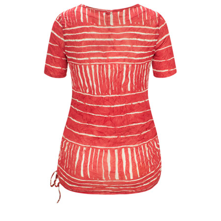 Sandwich Clothing Line Print Drawstring Hem Top - Pink