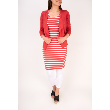 Sandwich Clothing Jersey Striped Longline Vest - Pink