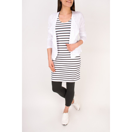 Sandwich Clothing Jersey Striped Longline Vest - Black