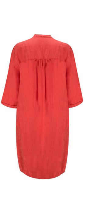 Sandwich Clothing Linen Tunic Dress Summer Rose