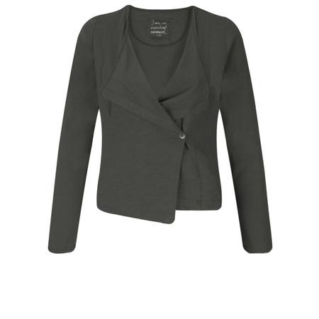 Sandwich Clothing Cotton Slub Jersey Cardigan - Black