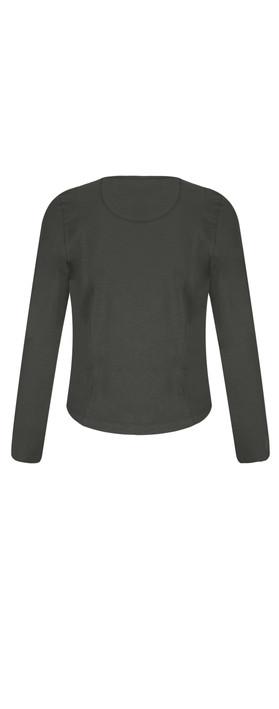 Sandwich Clothing Cotton Slub Jersey Cardigan Almost Black