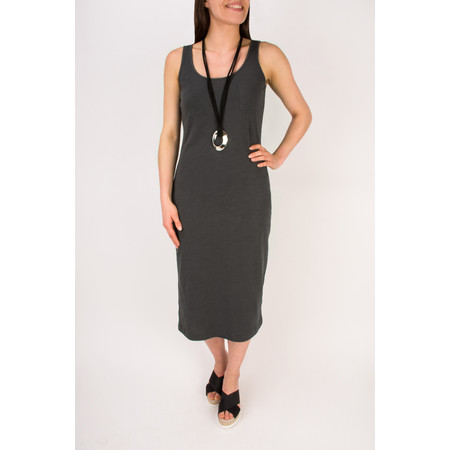 Sandwich Clothing Slub Jersey Dress With Pocket - Black