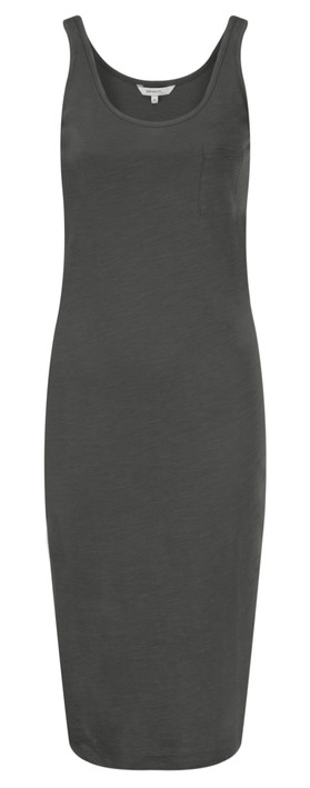 Sandwich Clothing Slub Jersey Dress With Pocket Almost Black