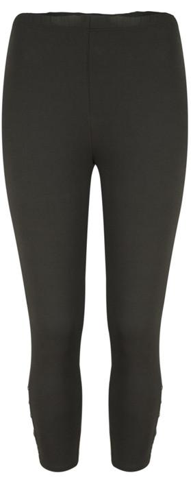 Sandwich Clothing Jersey Button Detail Legging  Almost Black