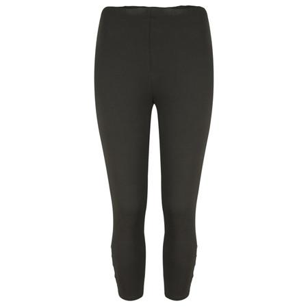 Sandwich Clothing Jersey Button Detail Legging  - Black