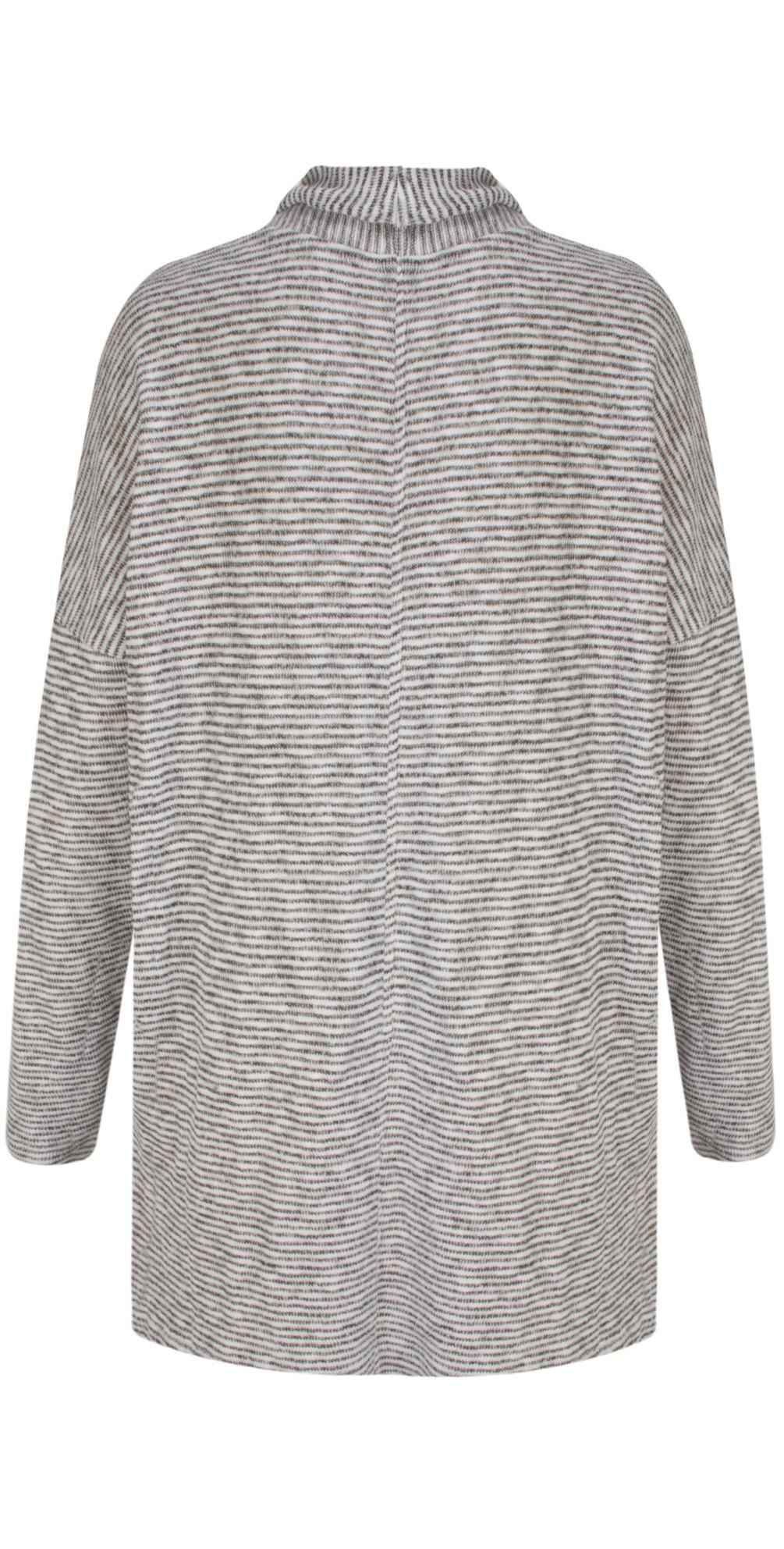 Woven Striped Jersey Cardigan main image