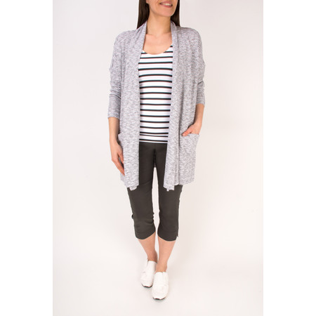 Sandwich Clothing Woven Striped Jersey Cardigan - White