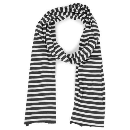 Sandwich Clothing Striped Jersey Scarf - Black