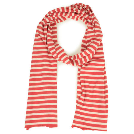 Sandwich Clothing Striped Jersey Scarf - Pink