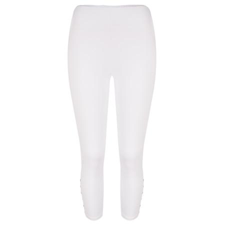 Sandwich Clothing Jersey Button Detail Legging  - White