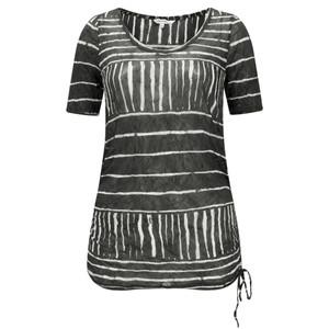 Sandwich Clothing Line Print Drawstring Hem Top
