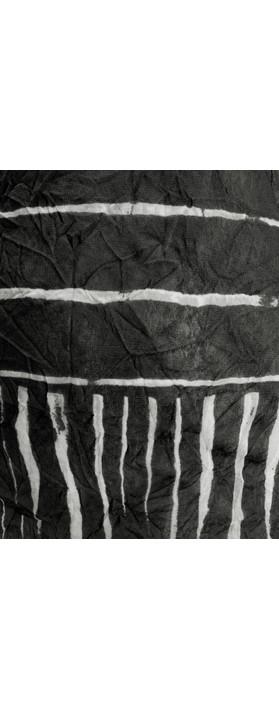 Sandwich Clothing Line Print Drawstring Hem Top Almost Black