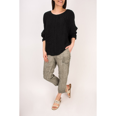 Grizas Silk Easy-fit Top with Pockets - Black