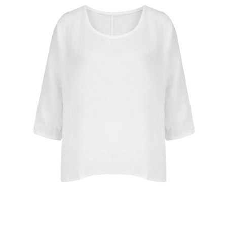TOC  Billie Linen Easy Fit Top - White