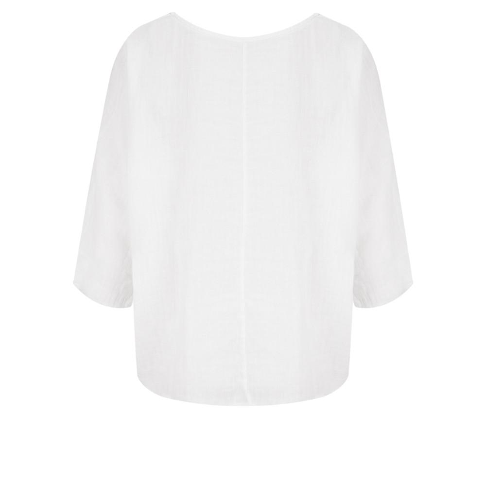 TOC Billie Linen Mix Easy Fit Top White