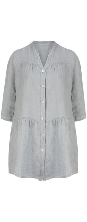 TOC  Della Oversized Tunic Shirt Grey